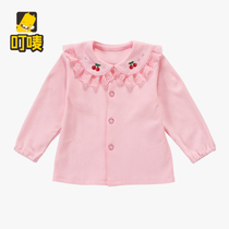 Bite-mark childrens clothing 1-2 baby girls spring loaded baby top girls  Princess shirt long sleeve cotton blouse