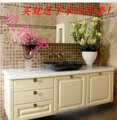 The special beauty of European style bathroom cabinet cabinet combination wash station platform basin ceramic sanitary wash hand basin cabinet speakers