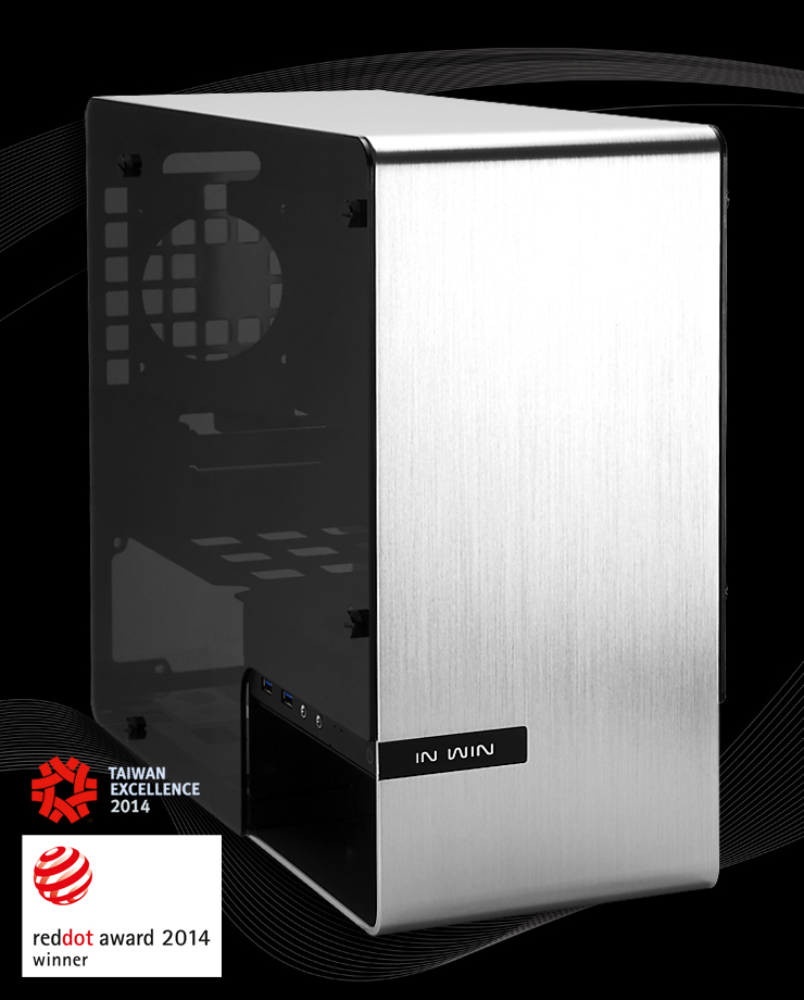 IN WIN/ welcome Canton 901 chassis, all aluminum / tempered glass /ITX case / silver / mail