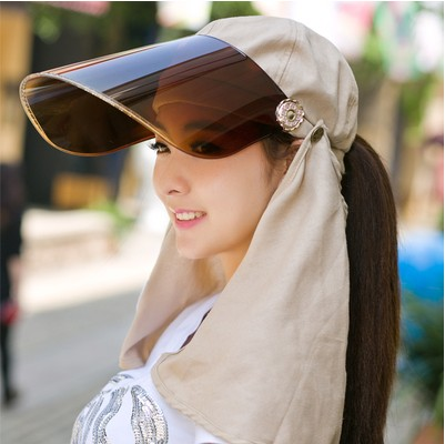 Electric motorcycle visor female summer and face-covering Sun Hat UV lens cap riding Sun windproof face mask