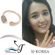South Paula originals Korea purchasing alloy crystal jewelry jewelry ring opening beautiful woman 0117