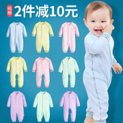 The newborn baby clothes and minimum odd clothes and baby clothes, climbing clothing pajamas cotton long sleeved summer