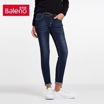 Baleno Baleno ladies Korean self slim jeans feet pencil pants pants pants childrens pants