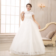 Special dim package, shoulder generous charm, back hollow, lace hook, flower show thin wedding, according to pregnant women Qi wedding