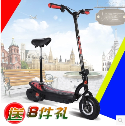 Mini foldable electric scooter with lithium batteries instead of driving on behalf of portable sitting silent adult bicycle