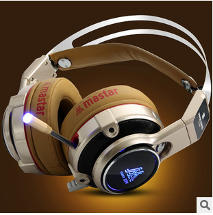 Maishette longitudinal g100w 7.1-head wear shock-emitting game headset Internet cafes headsets