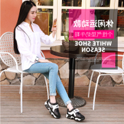 Female running shoes sneakers han edition of new fund of 2017 autumn breathable students thick recreational shoe soles