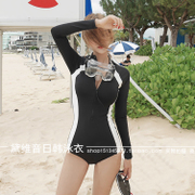 South Korea a diving suit long sleeved swimsuit Siamese skinny female sunscreen clothing jellyfish surf clothing clothing snorkeling