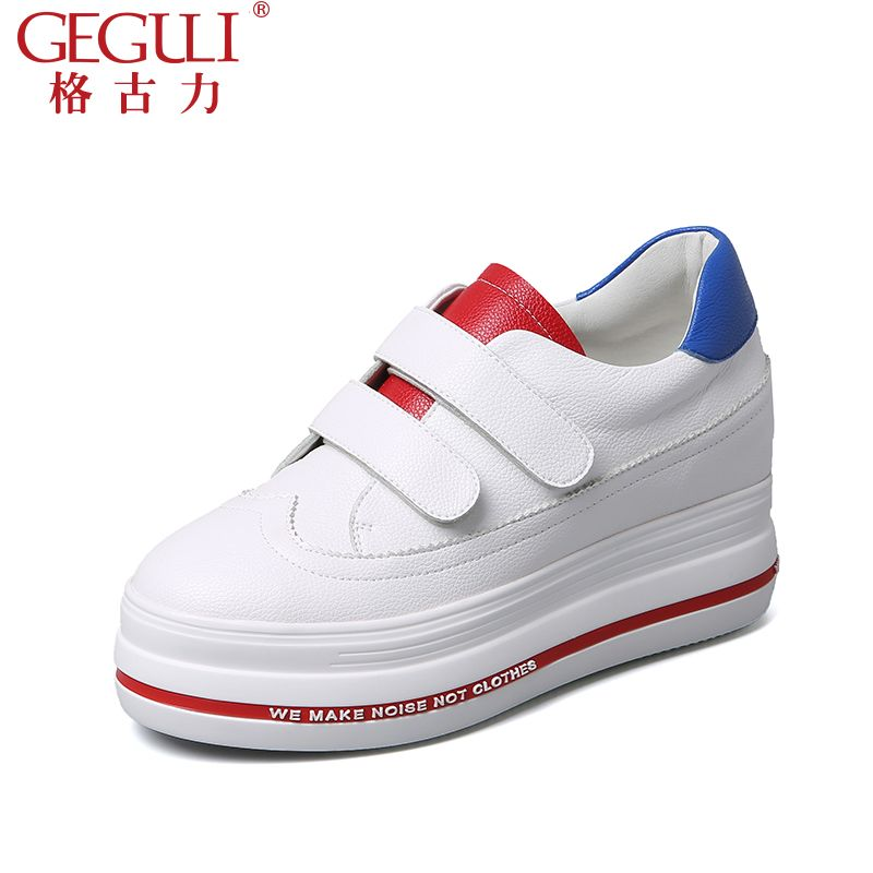 Thick bottom white shoes 2017 new Spring hundred Korean version of pine cake shoes sports shoes increase women's shoes autumn shoes