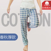 Men's spring and autumn pants cotton trousers loose Pants XL home old pants pants Home Furnishing lattice