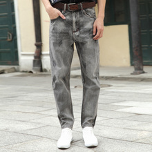 Finoauto winter 2017 new men's casual denim pants Haren pants loose straight slim pants pants
