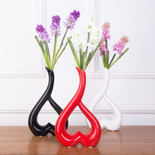 The two Home Furnishing modern fashion jewelry Bei vase floral floral decoration decoration creative simple heart-shaped flower