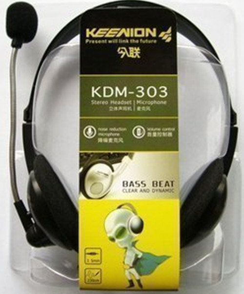 This bread KDM-303 stereo headset support, genuine mail