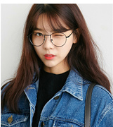 The retro metal spectacle frame fine gold rimmed glasses frame of flat mirror with myopia of men and women
