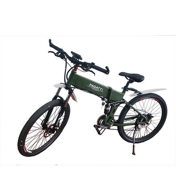 精品悍马26寸助力电动山地车折叠电动自行车出口锂电池代步电瓶车