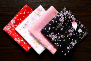 Japan bandanna handkerchief cotton handkerchief handkerchief Sakura lady lady 48*48CM