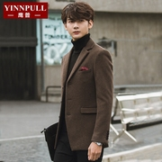 Autumn and winter wool suit male Korean business casual suit jacket Slim small male thickened young West tide