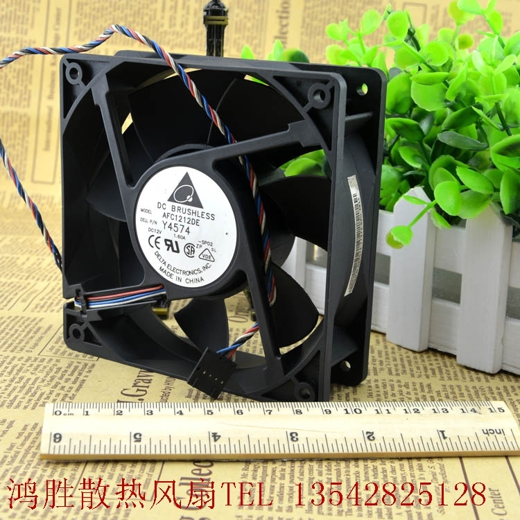 Delta AFC1212DE 12038 12V 1.6A large air temperature 154.5CFM PWM temperature control fan