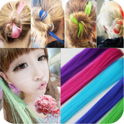 The fluorescent color highlights dyeing hair piece hot cut hair wig wig hairclip headdress piece hair piece