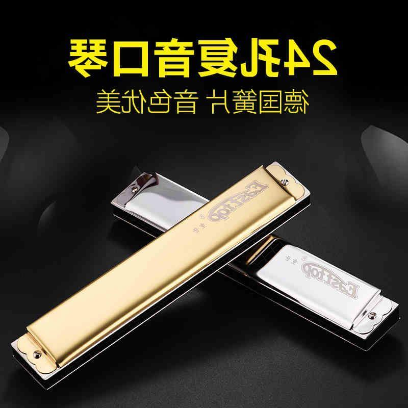The sale of imported German reed Oriental 24 hole tremolo harmonica accent / senior adult semi professional playing C D/
