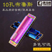 The ten hole harmonica Siemag Bruce children beginners small harmonica professional harmonica West Yunnan mag