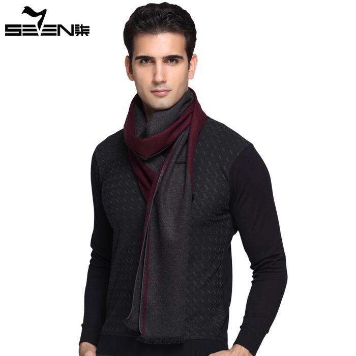 Widely cashmere scarf male long thickening high-grade big gentleman warm scarf shawl qiu dong season grid of England
