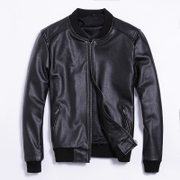 Men's padded leather leather jacket men's jackets motorcycle suits baseball suit flight suit big yards men's clothes