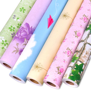 PVC self-adhesive thickening 10 meters long pastoral bedroom wallpaper wallpaper Suihua living room children room kindergarten wall stickers