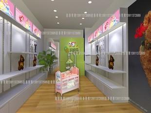 木质货架 母婴店展柜 双面中岛柜 童装店展柜 婴儿用品柜 奶粉柜