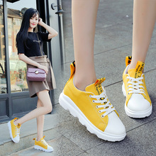 15 new summer lace casual canvas shoes 10 years old girl student white shoes shoes 16 girls thick soled shoes