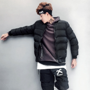Purchase new men's baseball neck jacket short coat in winter warm coat