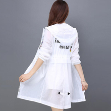 Sun protection clothing female UV protection summer new 2018 long section of thin and thin loose bf wild coat tide