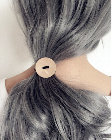2017IAN Amy, Japan and Korea simple handmade wooden HAIR rope, South Korea hair ornaments, rubber hair rope, headdress
