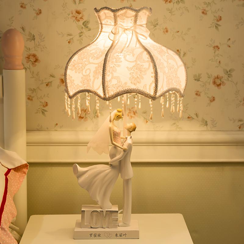 结婚礼物新婚庆礼品婚房台灯创意实用送闺蜜欧式高档家居饰品摆件