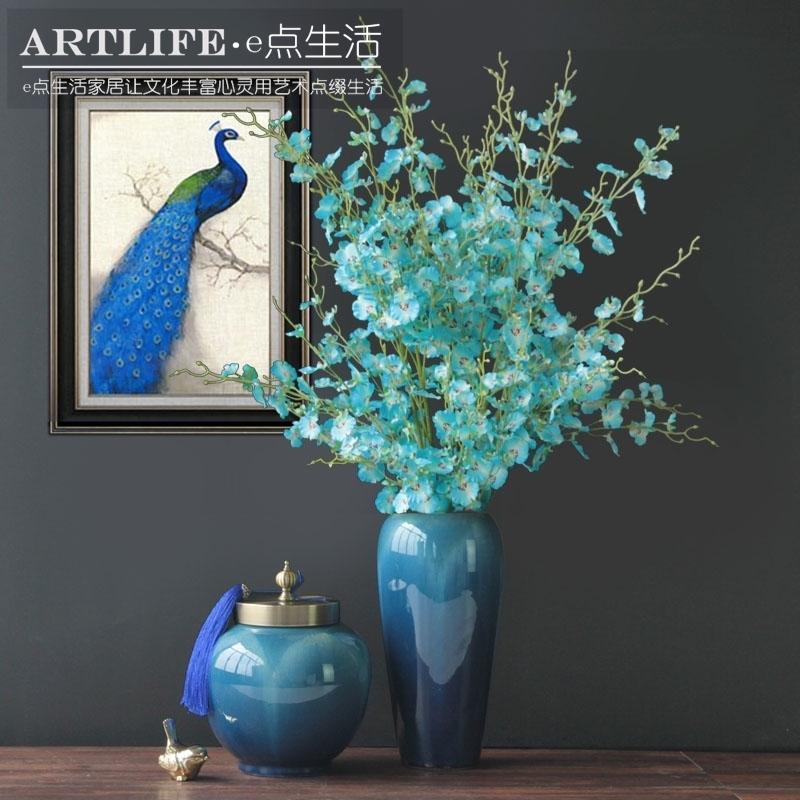 新款新古典后现代新中式客厅家居饰品陶瓷摆件结婚礼物花瓶装饰品