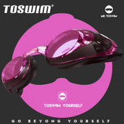 TOSWIM wins HD anti fog goggles extension waterproof goggles myopia for male and female adult professional swimming glasses frame