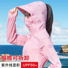 sun protection clothing female 2018 summer new UV protection Korean version of the long section of the thin outdoor cycling sun protection clothing jacket