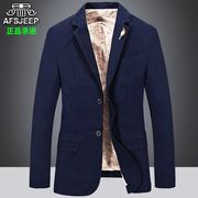 AFS JEEP fall leisure suit male size pure cotton loose suit jacket youth fashion business