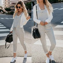 Women Casual Pants trousers suspenders jumpsuits over alls