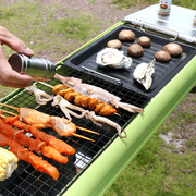Large outdoor more than 5 thick stainless steel barbecue grill charcoal household barbecue can be folded and portable full set