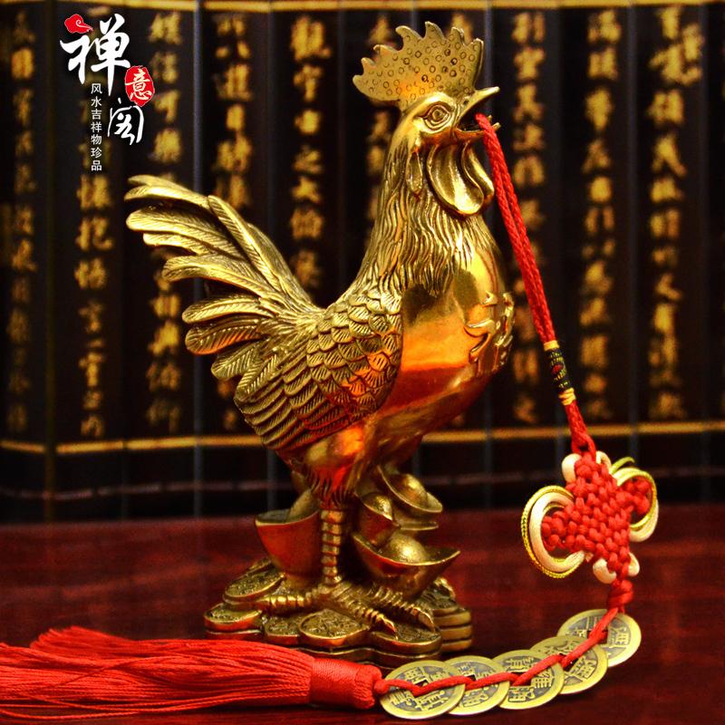 开光纯铜公鸡摆件铜鸡金鸡斩婚外情烂桃花招财家居工艺装饰品摆件