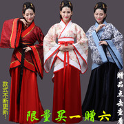 The costume of Tang Dynasty costume Hanfu female royal wedding dress clothing tail fairy princess show ancient cost