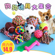 Dog Toy Bite Molar Pet Toys Golden Hair Teddy Bears Sounding Dog Toys Pet Products Training Ball