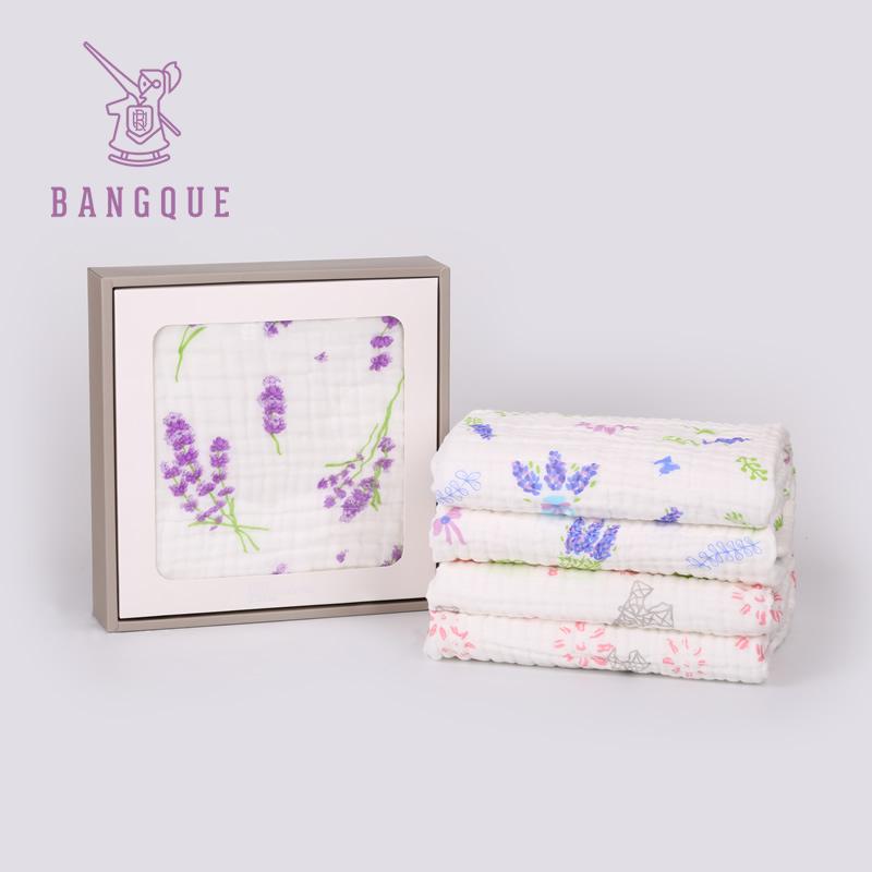 bangque 纯棉婴儿纱布浴巾新生儿童 120cm柔软吸水宝宝冬季毛巾被