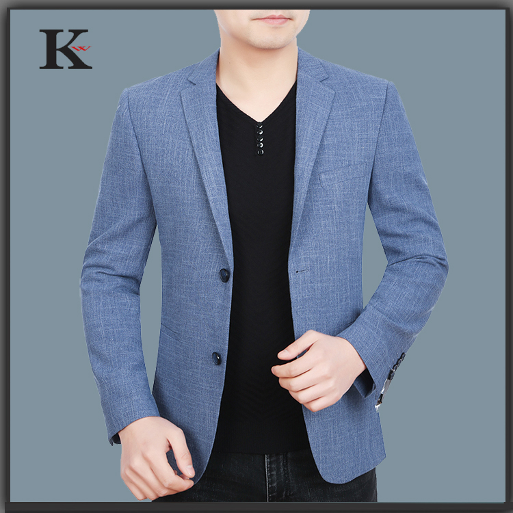Leisure suit men's suit jacket lattice 2017 new spring tide men's branch, then West