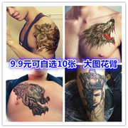 A copy of the 10 Buddha magic arm tattoo stick waterproof men and women lasting realistic wearable arm tattoo stickers