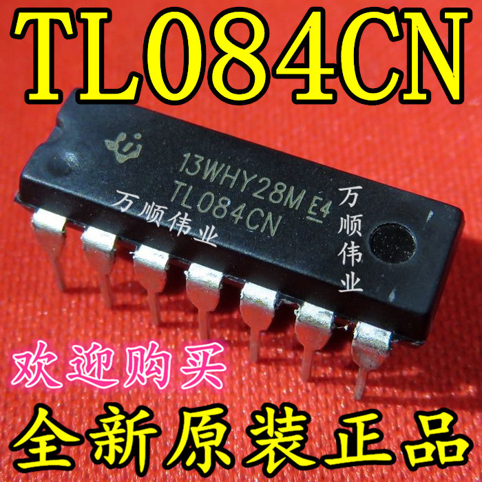 0 07] TL084 TL084CN Directly Interpolated DIP14 Four-Channel
