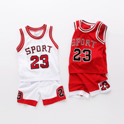 Every day special offer kids children sport suit boys basketball clothing 1-3 baby summer vest two piece