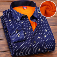 The middle autumn and winter shirt 30 year old dad put 45 men with plaid childe cashmere thermal 50 casual shirt 60