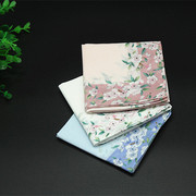 1 packages of soft cotton gift boxes, ladies handkerchiefs, printed handkerchiefs, girls handkerchiefs, sweat cherry blossoms